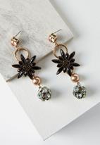 Rubi - Flower jewel drop earring - multi