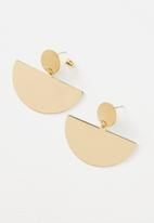 Cotton On - Queen metal statement earring - gold
