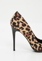 Superbalist - Leopard print stiletto heel - tan