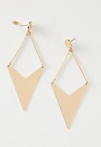 Cotton On - Geo arrow metal earring - gold
