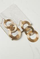 Cotton On - Entwined metal earring - gold