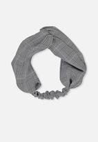 Cotton On - Manhattan headband - grey, black & white