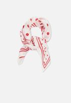 Cotton On - Soho satin scarf - red & white