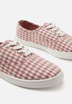 Cotton On - Juno plimsoll - red & white