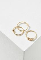 Cotton On - Marley metal ring set - gold