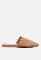 Cotton On - Charlotte soft mule -brown