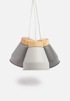 Sixth Floor - Cluster pendant - tonal grey