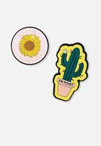 Typo - Novelty eraser pack - cactus sunflower