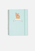 Typo - A5 spinout notebook 120 page - corgi cute butt!