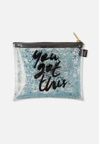 Typo - Clear it pencil case - you got this scribble