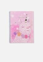 Typo - A4 spinout notebook 120 pages - llamacorn