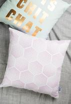 Sixth Floor - Rush cushion cover - pink & white