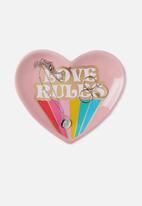 Typo - Novelty trinket tray - love rules