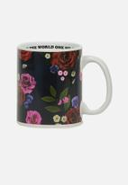 Typo - Anytime mug - blue floral