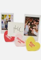 Typo - Heart photo blocks - pastel multi