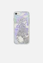 Typo - Transparent phone cover universal - iridescent lace