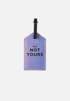 Typo - Luggage tag - iridescent