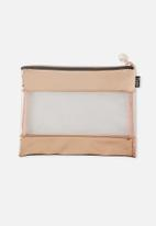 Typo - Banded pencil case - rose gold patent