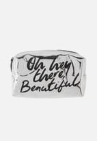 Typo - Made up cosmetic bag - silver beautiful