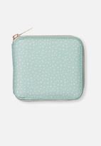 Typo - Everyday wallet - aqua polka