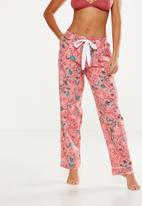 Cotton On - Non cuffed flannel pant - pink