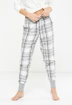 Cotton On - Cuffed flannel pant - multi
