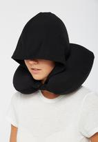 Typo - Hooded neck pillow - black