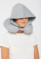 Typo - Hooded neck pillow - grey marle