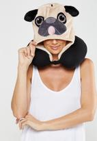 Typo - Hooded neck pillow - novelty pug