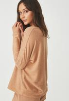 Cotton On - Super soft  lounge top - beige