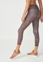 Cotton On - Recycled highwaisted yoga 7/8 tight - indigo & coral