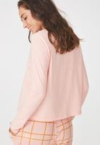 Cotton On - Boxy long sleeve top - pink