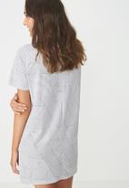 Cotton On - Boxy t-shirt nightie -  white & grey