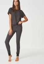 Cotton On - Jersey legging - charcoal & black