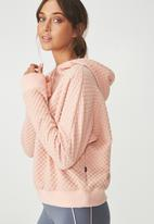 Cotton On - Bubble fleece long sleeve top - pink