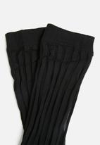 Vero Moda - Stripe thin socks - black