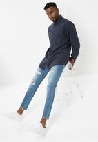 basicthread - Skinny cropped jeans - blue