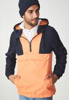 Cotton On - Vintage spray jacket - navy & orange