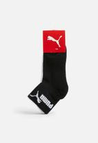 PUMA - Technical 2 pack running socks  - black and white