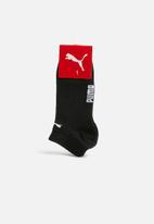 PUMA - Foot protector 2 pack secret socks - black and white