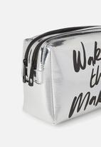 Typo - Dual zipper cosmetic case - wake up