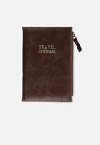 Typo - Travel zip journal - rich tan