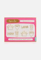 NPW - Notes to self fancy paper clips - gold