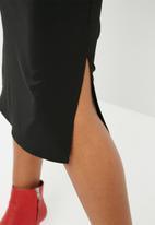 Superbalist - Square neck midi slip dress - black