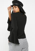 Superbalist - Blouse with flared sleeve - black
