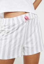 Missguided - Dream on short pj set - white