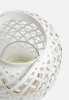 Present Time - Lattice lantern - white