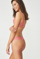 Cotton On - Party pants seamless g-string brief - pink