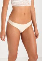 Cotton On - Seamless essential g-string brief - cream
