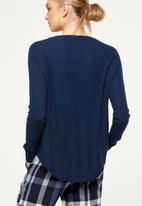 Cotton On - Waffle top - navy